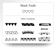 Variations of the shark teeth symbol as depicted on Atelier Leseine Tahitian carved black pearls.