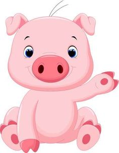Cute Baby Pig Cartoon Royalty Free Cliparts, Vectors, And Stock Illustration. Cute Baby Pigs, Cute Babies, Baby Animal Drawings, Inkscape Tutorials, Wood Craft Patterns, 2nd Birthday Party Themes, Cute Kawaii Animals, Small Pigs, Pig Drawing