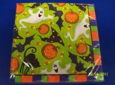 Scary Fun Green Halloween Carnival Party Paper Luncheon Napkins