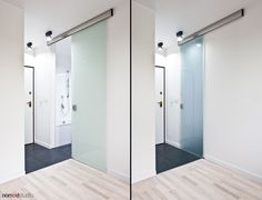 """Main assumption of this project was to create functional space for a couple on just 27m2. Investors wanted to have isolated """"bedroom"""", """"dining room"""" and """"home office"""" in a way that two persons could independently work (function) on small space."""