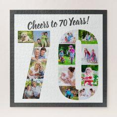 Custom Photo Jigsaw Puzzle | Zazzle.com 70th Birthday Party Ideas For Mom, 70th Birthday Parties, Diy Birthday, Birthday Photos, Photo Jigsaw Puzzle, Jigsaw Puzzles, Custom Gift Boxes, Customized Gifts, Personalised Jigsaw Puzzle
