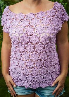 Violet - This cap sleeve off the shoulder shirt is a wonderful addition to any wardrobe - http://www.chotikadesigns.co.uk/crochet/violet/