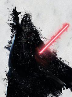 Darth Vader Print Star Wars Watercolor Splash by PRINTANDPROUD