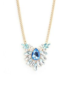Look at this #zulilyfind! Gold & Blue Teardrop Center Necklace by Sevil 925 #zulilyfinds