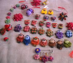 Fimo animals - great shapes to make into magnets or pendants