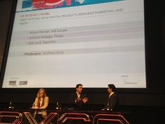 Alison Fennah (Vice President, Research and Marketing, IAB Europe), Antonio Hidalgo (Chief Innovation, Marketing and Strategy Officer, Philips) and Bob Lord (Global CEO, Razorfish)