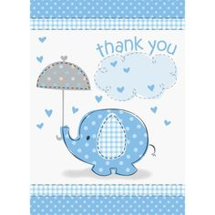 Unique Baby Shower Thank You Notes – Blue Umbrellaphant | Your #1 Source for Baby Products