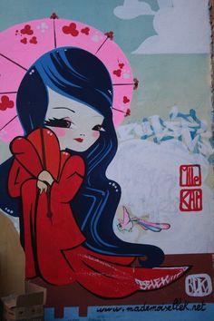 ~ Street art ~ Mademoiselle Kat ~ Toulouse, France ~
