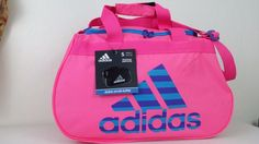 NWT ADIDAS Diablo Small II Duffel Bag Pink Blue Sport Gym Travel Carry On Expand #adidas #ebay #adidas #GymBag