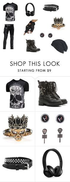 """""""emo men's outfit"""" by baby2014mm44 on Polyvore featuring RED Valentino, Alexander McQueen, Hot Topic, Rust Mood, Beats by Dr. Dre, men's fashion and menswear"""