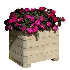 Wooden Patio Square Planter Pot Flower Plant Box Garden Balcony Decoration