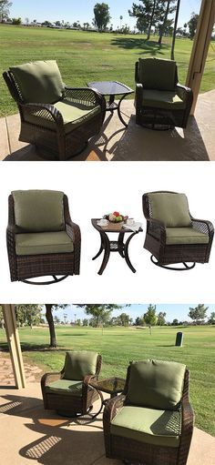 Latest customer review sharing: 💥💥 Relax in comfort and style with this Swivel Rocking chair. Perfect for the patio, porch or sunroom. 🤗🤗 Wicker Sofa, Rattan, Outdoor Chairs, Outdoor Furniture Sets, Outdoor Decor, Rocking Chair, Sunroom, Porch, Villa