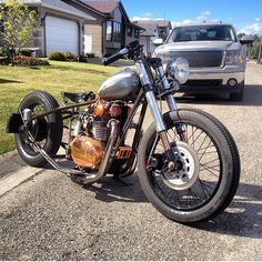 """This is one cool xs 650 from @nobrakesfk much respect brother 👍🙏🙏🙏🙏"""