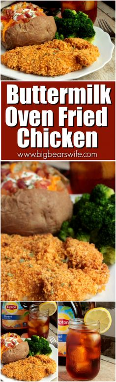 A perfectly cooked chicken breast that's seasoned and cooked to mimic fried chicken! However, this Buttermilk Oven Fried Chicken is baked in the oven!