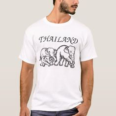 chang thai T-Shirt - tap to personalize and get yours #TShirt #chang #thai #elephant #thailand Chang Thai, Thai Elephant, Thailand Art, Fitness Models, Shirt Designs, Casual, Sleeves, Mens Tops, T Shirt