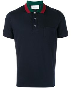 GUCCI Striped Collar Polo T-Shirt. #gucci #cloth #