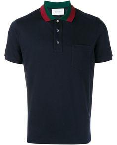 GUCCI Striped Collar Polo T-Shirt. #gucci #cloth #
