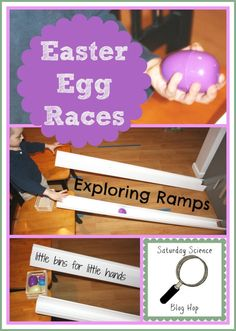 Plastic Easter Egg Races: Exploring Angles of Ramps {Saturday Science}