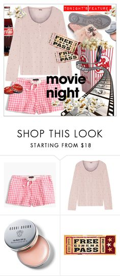 """""""Bring The Popcorn  Movie Night!"""" by calamity-jane-always ❤ liked on Polyvore featuring J.Crew, Bodas, Bobbi Brown Cosmetics, movieNight and fashionset"""