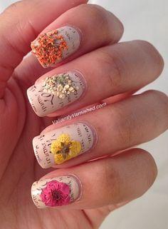 Valiantly Varnished - Flower nail art
