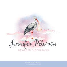 Watercolor Logo  OOAK Photography Business Logo  by MariaBPaints