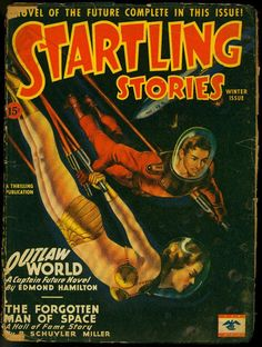 STARTLING STORIES WINTER 1946-THRILLING-CAPTAIN FUTURE STORY-EARLE BERGEY-good