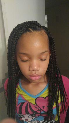 Outstanding Little Girl Box Braids Pinteres Short Hairstyles Gunalazisus