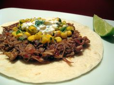 The Foodie Physician: Dining With The Doc: Braised Pork Tacos with Corn Jalapeno Salsa