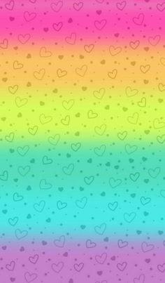 Hearts on rainbow background Rainbow Wallpaper, Heart Wallpaper, Love Wallpaper, Colorful Wallpaper, Screen Wallpaper, Cute Wallpaper Backgrounds, Pretty Wallpapers, Wallpaper Iphone Cute, Cellphone Wallpaper
