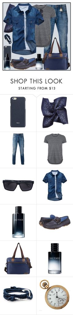 """Blues for B"" by winscotthk ❤ liked on Polyvore featuring Valextra, MANGO MAN, Levi's, Linda Farrow, Christian Dior, Donald J Pliner, Jacki Design, MIANSAI, men's fashion and menswear"