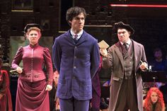 Sarah Kleeman, Christopher Wood and Mark Poppleton. Photo by Andy Snow Spring Awakening Musical, Chris Wood, Wife And Kids, Costume Design, Pretty Boys, Theatre, Photo Galleries, Handsome, Costumes