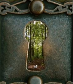 Start with a giant keyhole and wonderland inside.