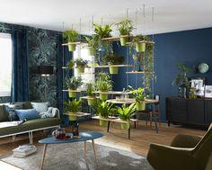 Une séparation de pièce végétale originale, design et même un peu bohème !