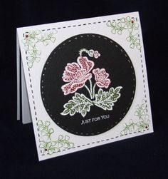 Embroidered Flowers - Card 3 - Joanna Sheen Project