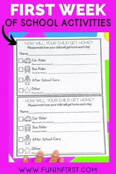 Get prepared and organized with my Back to School First Week of 1st Grade activities! These activities are fun and engaging and are the perfect resource to start the year off on a great note for your first graders. My resource includes lesson plans, open house printables, welcome letters, morning work, and MORE! After School Care, 1st Grade Activities, First Grade Lessons, Welcome Letters, Schools First, Classroom Setup, Morning Work, One Week, Classroom Management