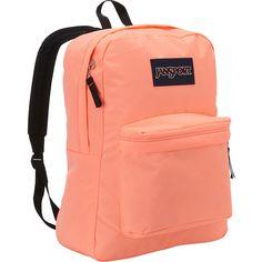 JanSport SuperBreak Backpack (409.515 IDR) ❤ liked on Polyvore featuring bags, backpacks, orange, school & day hiking backpacks, red bag, orange backpack, orange bag, backpacks bags and handle bag