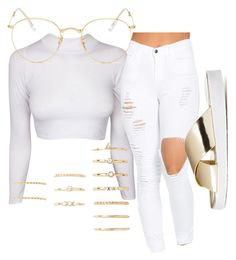 """Untitled #59"" by trillqueen34 ❤ liked on Polyvore featuring Charlotte Russe, Ray-Ban and Forever 21"