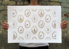Yoga Goddesses - Limited Edition Silk Screen Print