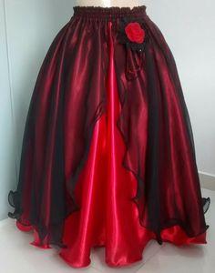 Saia umbanda pombagira no Elo7 | Atelier Maria Pimenta (C3678B) Belle Costume, Yoruba, Dance Outfits, Belly Dance, Pretty Dresses, Designer Dresses, Ball Gowns, Ideias Fashion, Fashion Outfits