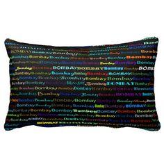 Bombay Text Design I Lumbar Pillow