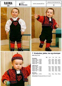 7 Baby Barn, Clothing Patterns, Baby Knitting, Norway, Folk Art, Crocheting, Children, Kids, Knitting Patterns