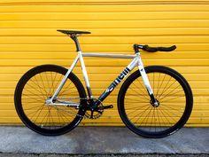 磨かれたマッシュcinelliヒストグラム700c固定ギアのトラック自転車フィクシーバイク
