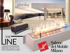 Milan Design Week 2015, Planika, Res Italia, Caccaro, Vibieffe Planika Fires with Res Italia Hall number: 7, Stand: B18 Planika Fires with Caccaro Hall: 6, Stand: C23, D20 Planika Fires with Vibieffe Hall: 5, Stand: M16, www.facebook.com/planikafire