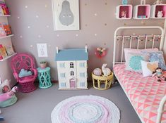 Chambre rose fille petite vintage interiors.com