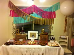 Our sweet Ellie Mae turned 3 last week! She loves Tiger Lily from Peter Pan, so we decided to throw her an indian-inspired birthday party w. Indian Birthday Parties, Indian Party, 1st Birthday Girls, Baby Birthday, First Birthday Parties, 10th Birthday, Birthday Ideas, Diy Streamer Decorations, Birthday Party Decorations