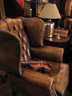 ♔ Leather armchair