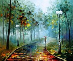 Fog Of Passion — Modern Landscape Wall Art Oil Painting On Canvas By Leonid Afremov. Size: X Inches cm x 75 cm) Oil Painting Texture, Texture Art, Oil Painting On Canvas, Oil Paintings, Modern Oil Painting, Knife Painting, Portrait Paintings, Painting Abstract, Acrylic Paintings