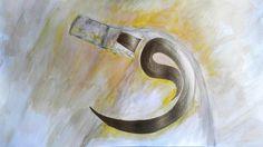 Tea and acrylic paint