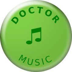 Music, Doctor, Badge, TV, SocialTV Badges, Religion, Tv Academy, Fantasy, Music, Musica, Musik, Badge, Muziek