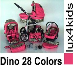 Pink Leopard Print Stroller And Carseat Baby Girl